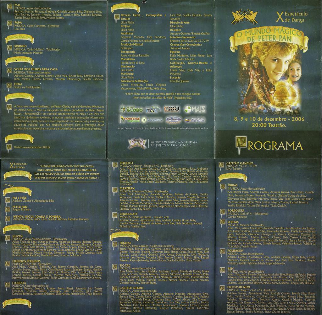 10 Espetaculo O mundo Magico de Peter Pan_Dancando no ritmo_2006_pecas graficas_folder