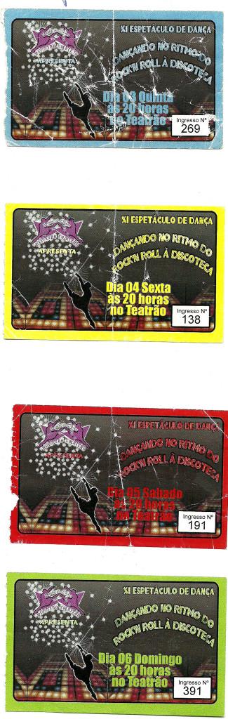 11 Espetaculo dancando no Ritmo do Rock'n Roll a Discoteca_dancando no ritmo_2007_pecas graficas_ingresso
