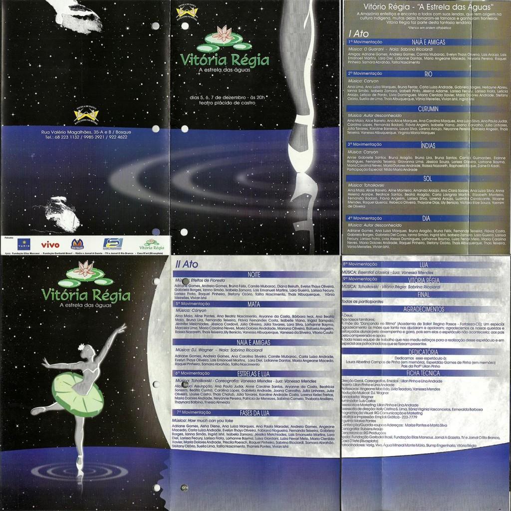 7 Espetaculo Vitoria Regia_Dancando no ritmo_2003_pecas graficas_folder