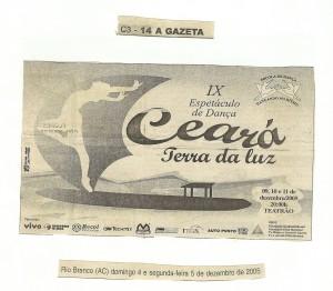 9 Espetáculo Ceará Terra de Luz_Dancando no ritmo_2005_material na imprensa (3)